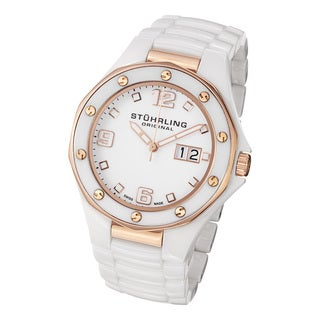 Stuhrling Original Men's Apocalypse Noir Swiss Made Quartz Ceramic Watch
