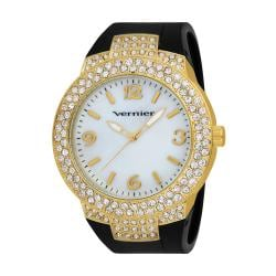 Vernier Women's V11073YGB Mother of Pearl Sparkle Bezel Watch