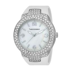 Vernier Women's V11073SSW Mother of Pearl Sparkle Bezel Watch