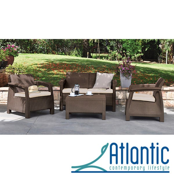 Mykonos Brown 4-piece Conversation Set