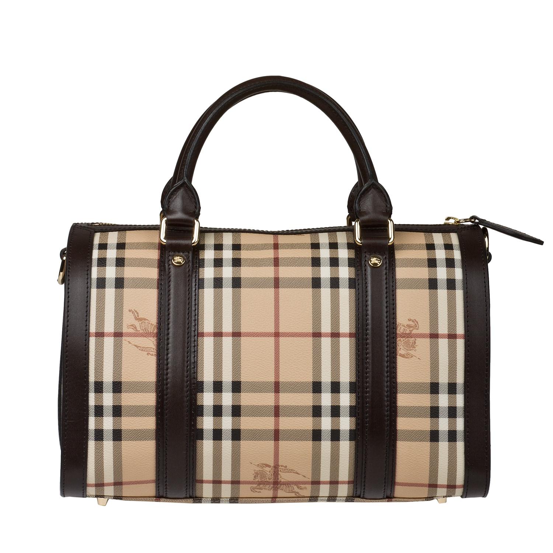 Burberry Medium Haymarket Check Bowler Bag