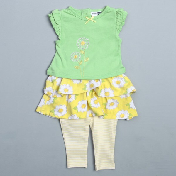 Vitamins Infant Girl's Daisy Print 2-piece Skegging Set FINAL SALE