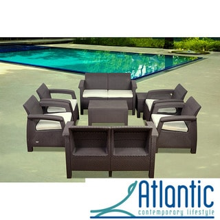 Mykonos Brown 8-pc Conversation Set
