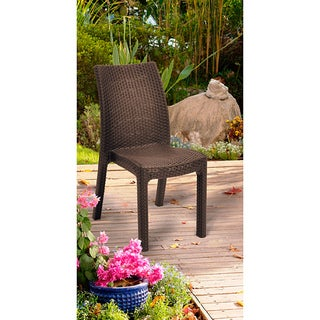 Mykonos Brown Stackable Chairs (Set of 4)