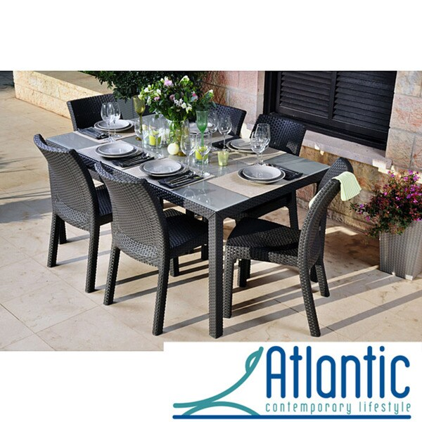 Mykonos Grey 7-pc Dining Set