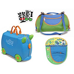 Melissa & Doug Blue Terrance Trunki Luggage Bundle