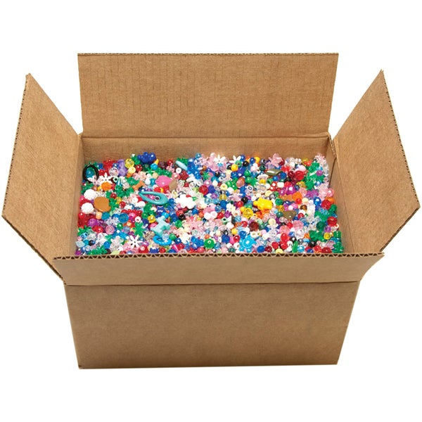 Boxed Mixed Plastic Beads (10 pounds)