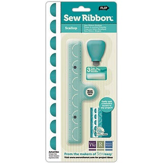 We R Memory Keepers Sew Ribbon 'Scallop' Tool & Stencil
