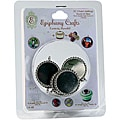 Epiphany Crafts Round Metal Charm Settings (5/package)