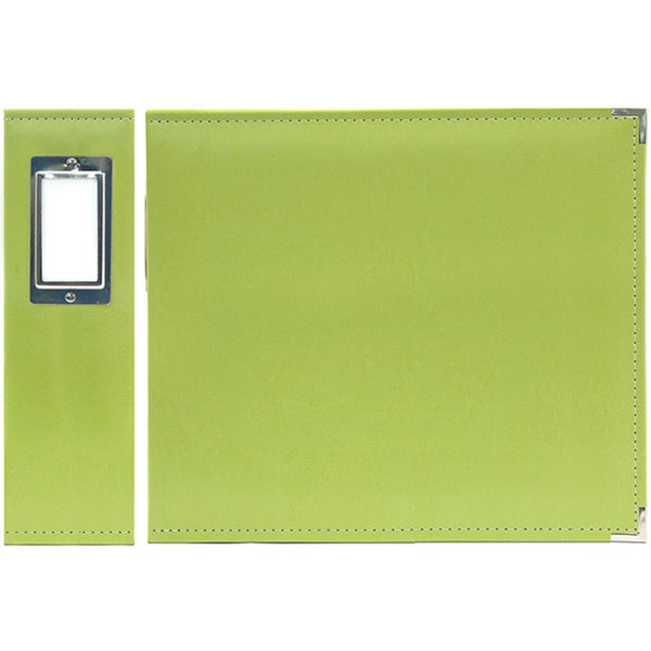 We R Faux Leather 3-Ring Binder 6inX6in-Kiwi