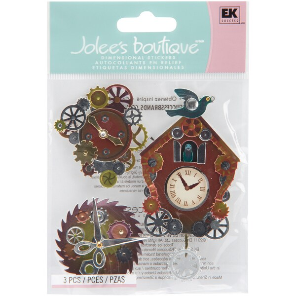 Jolee's Steampunk Sticker-Coo Coo Clocks