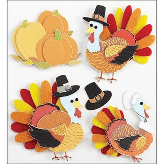 Jolee's Boutique Turkey Characters Dimensional Stickers