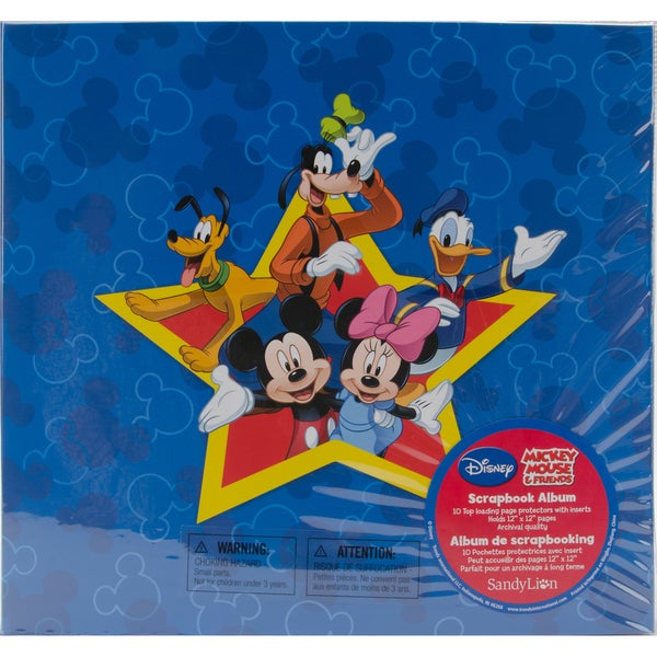 Mickey Postbound Scrapbook Album