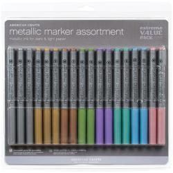 Extreme Value Pack Metallic Markers (Pack of 18)