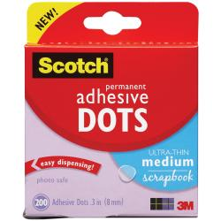 Permanent Adhesive Dots Medium (Pack of 200)