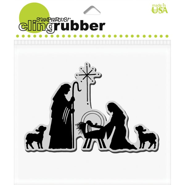 Stampendous 'Christmas Manger Scene' Cling Rubber Stamp