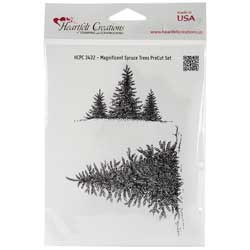 Heartfelt Creations 'Magnificent Spruce Trees' Cling Rubber Stamp Set
