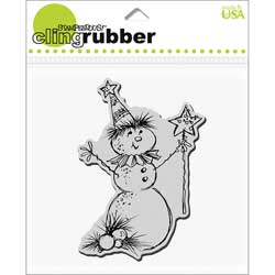 Stampendous Christmas 'Magical Snowman' Cling Rubber Stamp