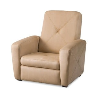 Tan microfiber Gaming Chair and Ottoman Set