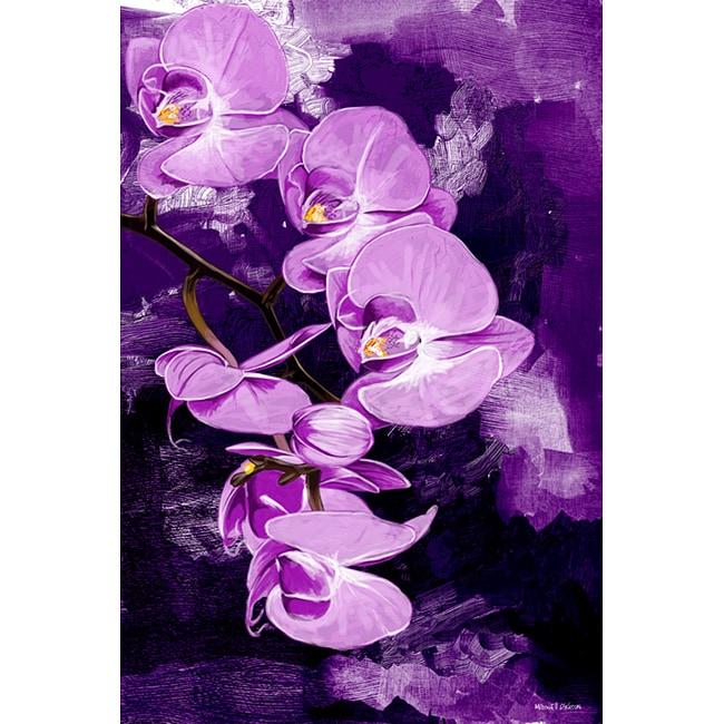 Maxwell Dickson 'Purple Orchid' Canvas Wall Art
