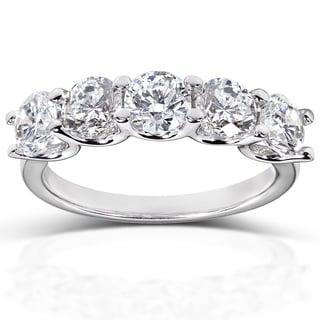 Annello 14k White Gold 2 2/5ct TDW Diamond Wedding Band (H-I, I1-I2)