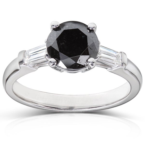 18k Gold 1 3/4ct TDW Black and White Diamond Ring (H-I, VS1-VS2)
