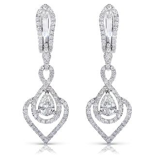 Annello 14k White Gold 1 1/6ct TDW Diamond Earrings (H-I, SI1-SI2)