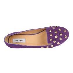Neway by Beston Women's Purple Studded Smoking Flats