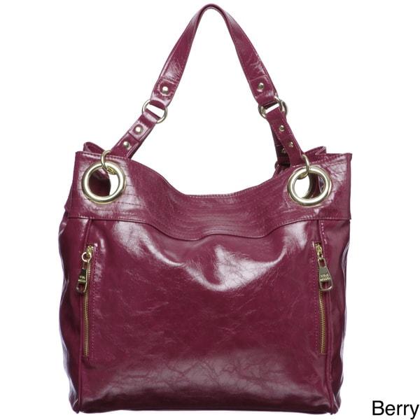 Steve Madden Double Handle Glazed Tote Bag