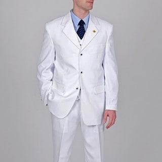 Stacy Adams Men's White 3-piece Suit