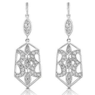 Annello 14k Gold 1/2ct TDW Geometric Diamond Earrings (H-I, VS1-VS2)