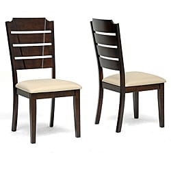 Victoria Brown Wood Modern Dining Chairs (Set of 2)