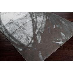 Meticulously Woven Grey Arowana Abstract Rug (5'3 x 7'6)