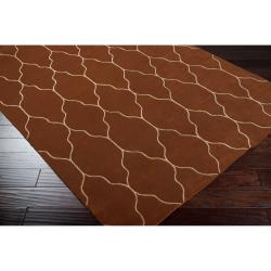 Hand-knotted Brown Adella Wool Rug (8' x 11')