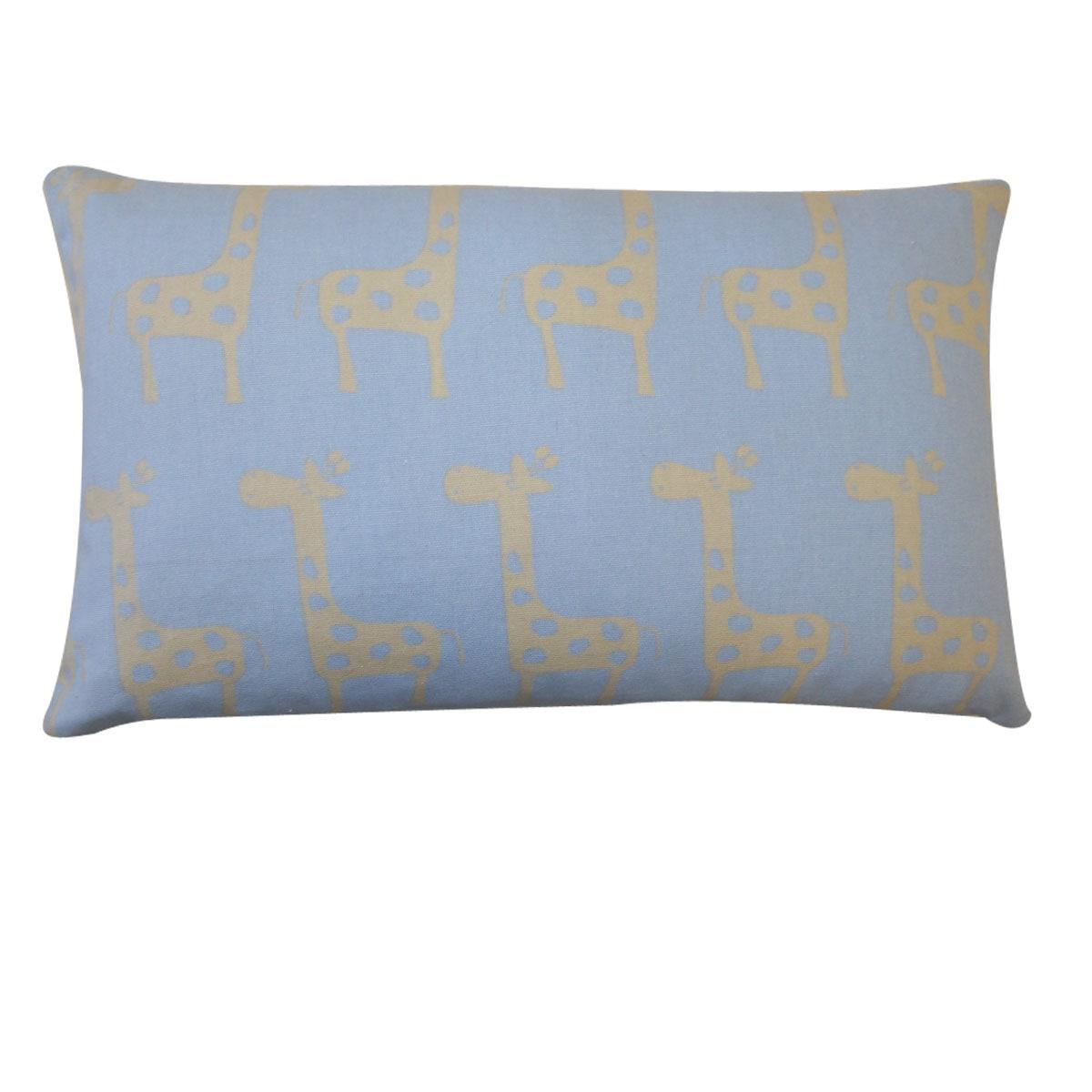 Kids Blue Giraffe-print Decorative Pillow