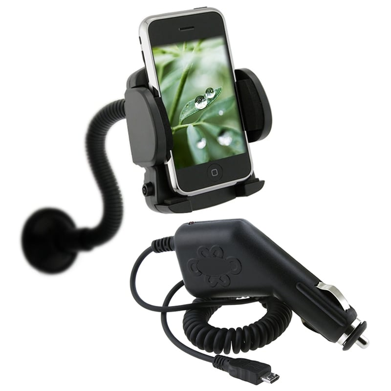 INSTEN Car Charger/ Mounted Cell Phone Holder for HTC Inspire 4G