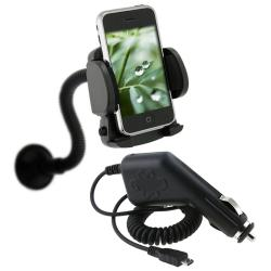 BasAcc Car Charger/ Mounted Cell Phone Holder for LG Optimus S LS-670