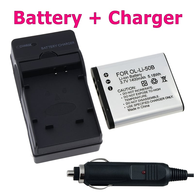 INSTEN Battery/ Charger for Olympus Stylus Tough 6020/ 8000/ 8010