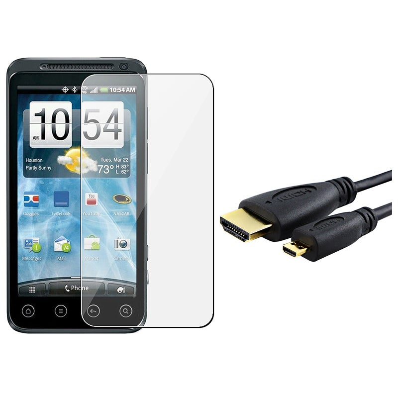 INSTEN LCD Screen Protector/ High Speed HDMI Cable for HTC EVO 3D
