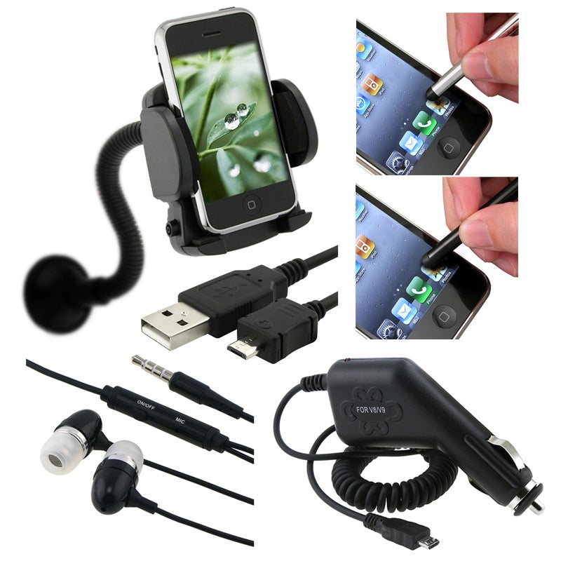 BasAcc Charger/ Holder/ Headset/ Screen Protector for HTC Inspire 4G