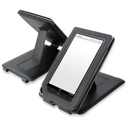 BasAcc Black Leather Case with Stand for Barnes and Noble Nook Color