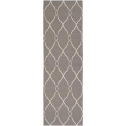 Jill Rosenwald Hand-woven Gray Artemis Wool Rug (2'6 x 8')