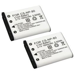 BasAcc Li-ion Battery for Casio NP-80/ Exilim EX-S7 (Pack of 2)