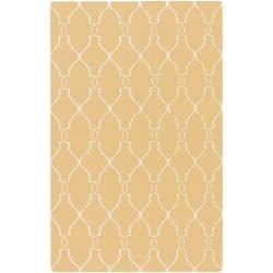 Jill Rosenwald Hand-woven Babylon Sunflower Yellow Flatweave Wool Rug (9' x 13')