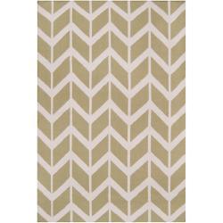 Jill Rosenwald Hand-woven Green Dikotter Wool Rug (8' x 11')