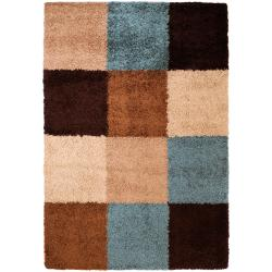 Woven Brown Barnacle Geometric Shag Rug (1'11 x 3'3)
