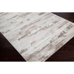 Meticulously Woven Beige Axoloti Abstract Rug (7'10 x 10')
