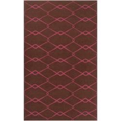 Jill Rosenwald Hand-woven Pink Yehren Wool Rug (8' x 11')