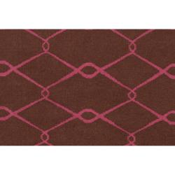 Jill Rosenwald Hand-woven Pink Yehren Wool Rug (5' x 8')
