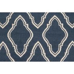 Jill Rosenwald Hand-woven Blue Loch Wool Rug (3'6 x 5'6)